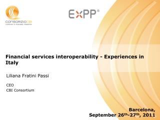 Financial services interoperability - Experiences in Italy