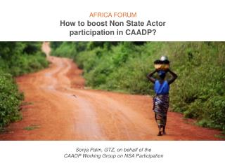 AFRICA FORUM How to boost Non State Actor participation in CAADP?