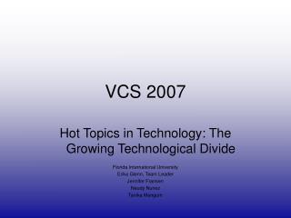 VCS 2007