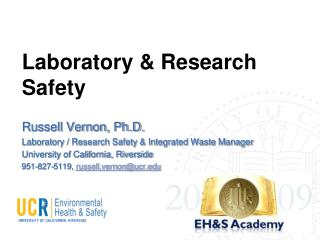 Laboratory  Research Safety