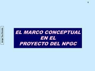 EL MARCO CONCEPTUAL  EN EL PROYECTO DEL NPGC