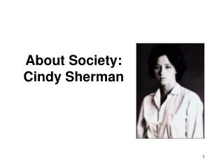 About Society: Cindy Sherman