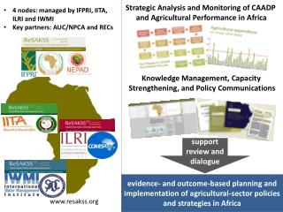 Strategic Analysis and Monitoring of CAADP  and Agricultural Performance in Africa