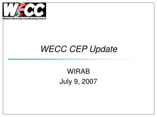 WECC CEP Update