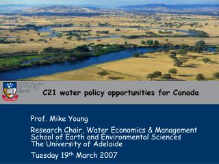 C21 water policy opportunities for Canada