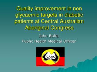 John Boffa Public Health Medical Officer