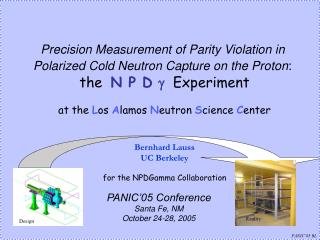 Precision Measurement of Parity Violation in  Polarized Cold Neutron Capture on the Proton :