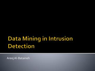 Data Mining in Intrusion Detection