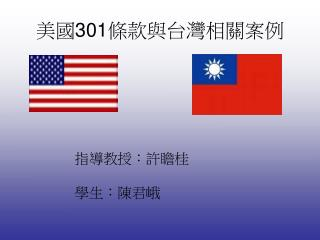 美國 301 條款與台灣相關案例