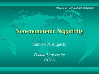 Non-monotonic Negativity
