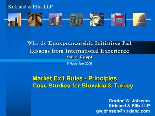 Market Exit Rules - Principles Case Studies for Slovakia & Turkey