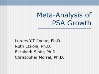 Meta-Analysis of  PSA Growth