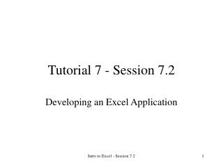 Tutorial 7 - Session 7.2