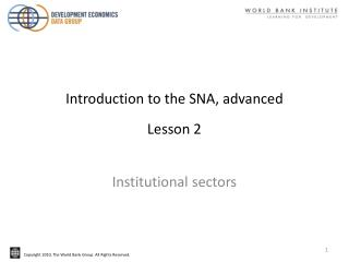 Introduction to the SNA, advanced Lesson 2