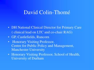 David Colin-Thomé