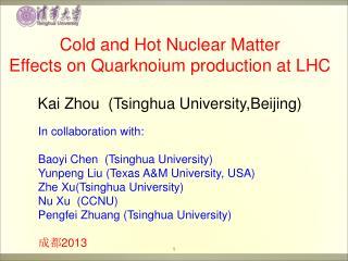 Kai Zhou  (Tsinghua University,Beijing)