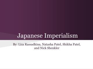 Japanese Imperialism
