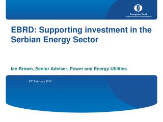 EBRD: Supporting investment in the Serbian Energy Sector