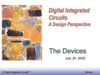 Digital Integrated Circuits A Design Perspective