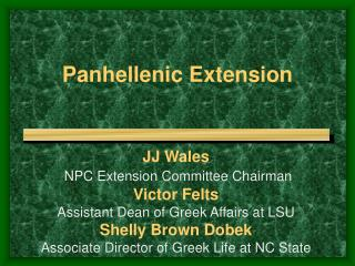 Panhellenic Extension