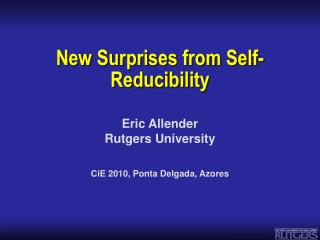 New Surprises from Self-Reducibility