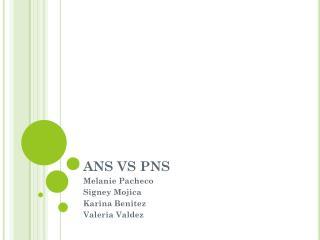 ANS VS PNS