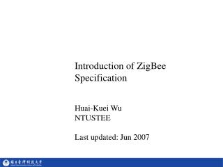Introduction of ZigBee Specification