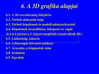 6. A 3D grafika alapjai