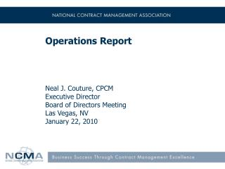 Operations Report