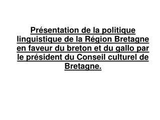 Le Conseil culturel ?