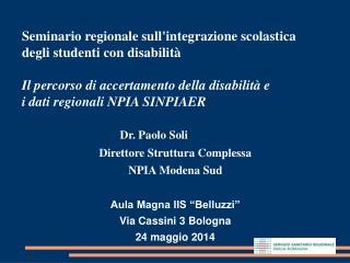 Seminario regionale sull'integrazione scolastica  degli studenti con disabilità