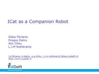 ICat as a Companion Robot