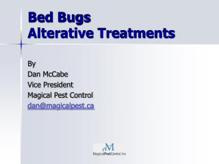 Bed Bugs Alterative Treatments