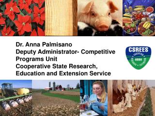 Dr. Anna Palmisano Deputy Administrator- Competitive Programs Unit