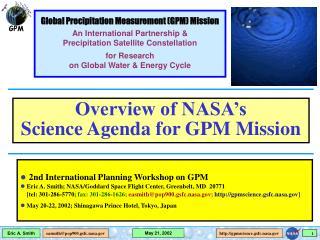 2nd International Planning Workshop on GPM