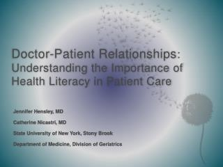 Doctor-Patient Relationships : Understanding the Importance of Health Literacy in Patient Care