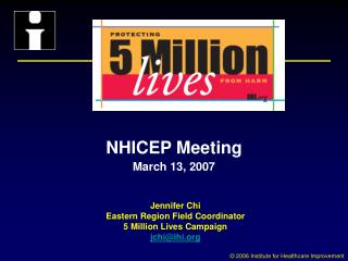NHICEP Meeting March 13, 2007