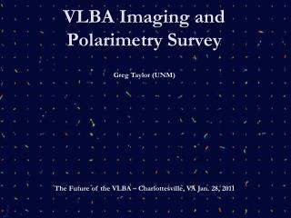 VLBA Imaging and Polarimetry Survey