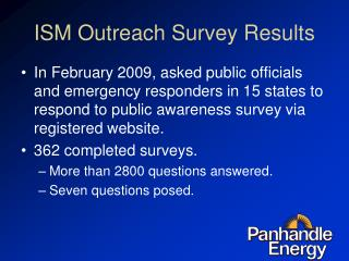 ISM Outreach Survey Results
