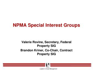 NPMA Special Interest Groups