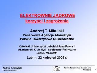 Polskie Towarzystwo Nukleoniczne Warszawa