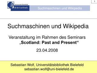 Suchmaschinen und Wikipedia
