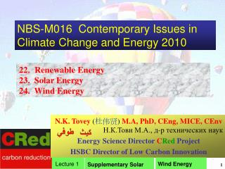 NBS-M016  Contemporary Issues in Climate Change and Energy 2010