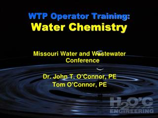 WTP Operator Training: Water Chemistry
