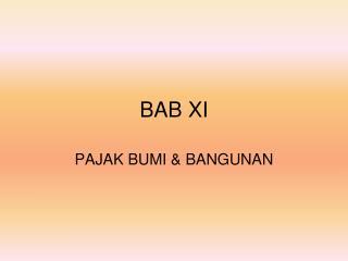 BAB XI