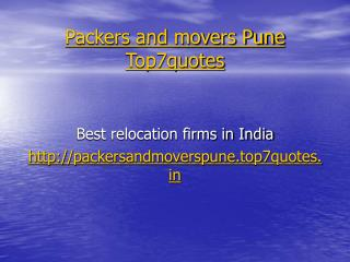 movers and packers in pune @ http://packersandmoverspune.to