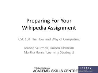 Preparing For Your  Wikipedia Assignment