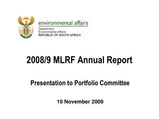2008/9 MLRF Annual Report