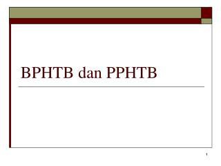 BPHTB dan PPHTB