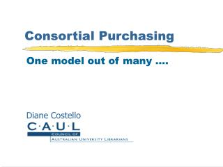 Consortial Purchasing